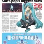 Hatsune Miku in UK Newspaper