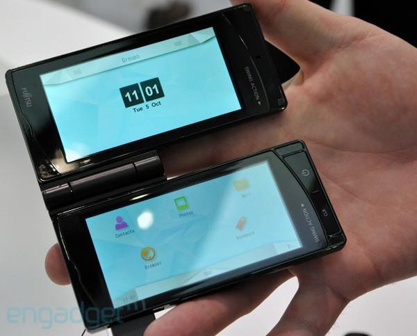 Fujitsu's Dual Screen Phone