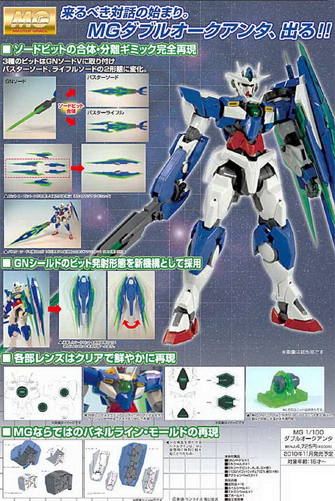 MG 00 QAN[T] & HGAW Gundam X Divider New Pics