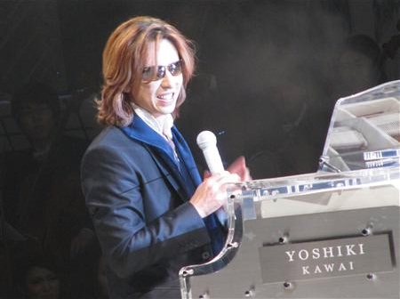 X JAPAN's YOSHIKI is donating his piano for earthquake relief