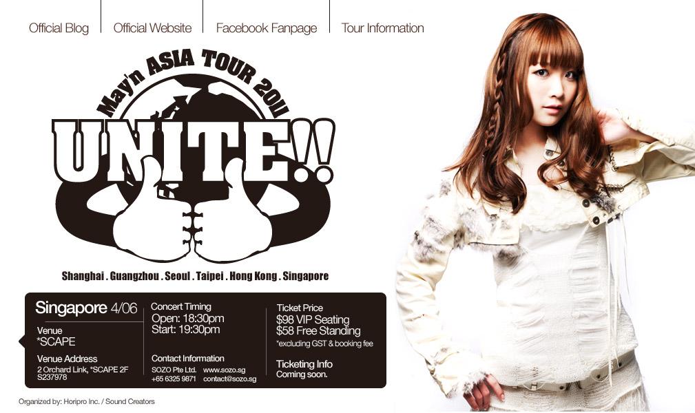 May'n Asia Tour 2011 「UNITE!!」Singapore!!!