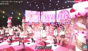 "AKB48 delivers a medley of ""Dareka no Tame ni"" & ""Heavy Rotation"" on MUSIC STATION!"