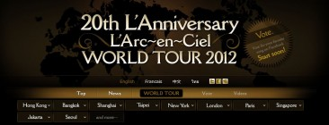 L' Arc en Ciel Singapore and Indonesia date confirmed