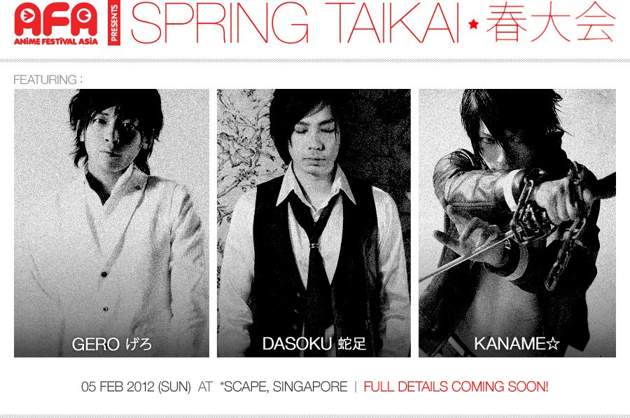 SG: SPRING TAIKAI, this SUNDAY!
