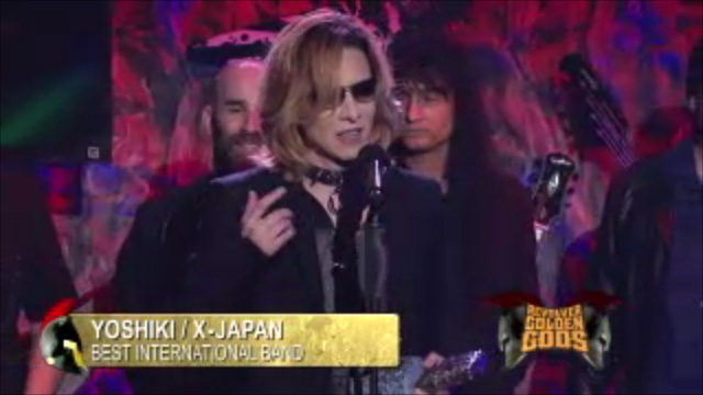 "X Japan Wins Golden GOD ""Best International Band"" Award"
