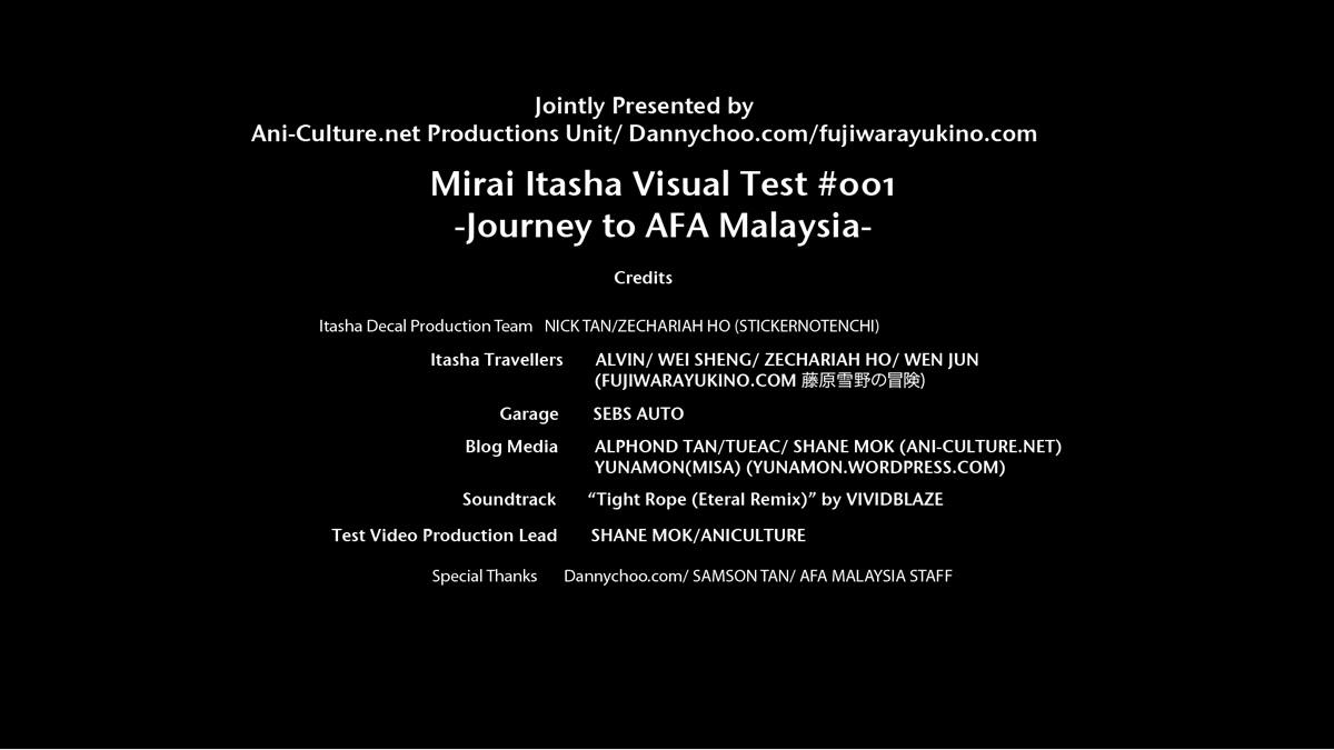Mirai Itasha- Journey to AFA Malaysia