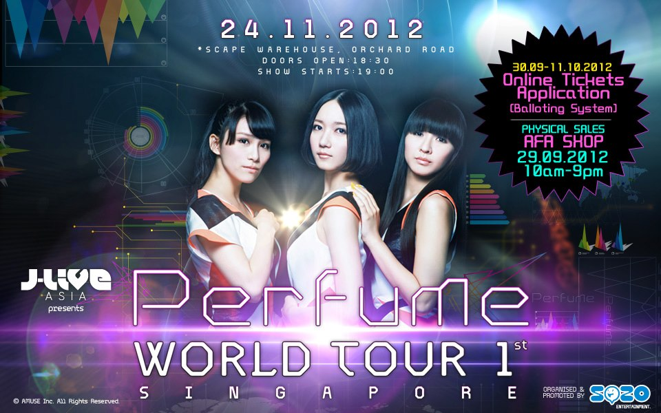SG: Perfume World Tour 1st SG announces Ticketing details