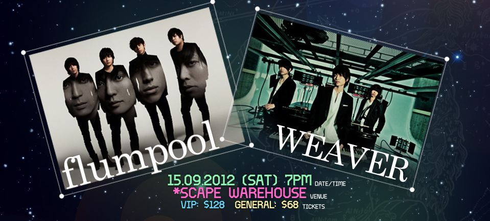SG: J-Live ASIA, flumpool and WEAVER