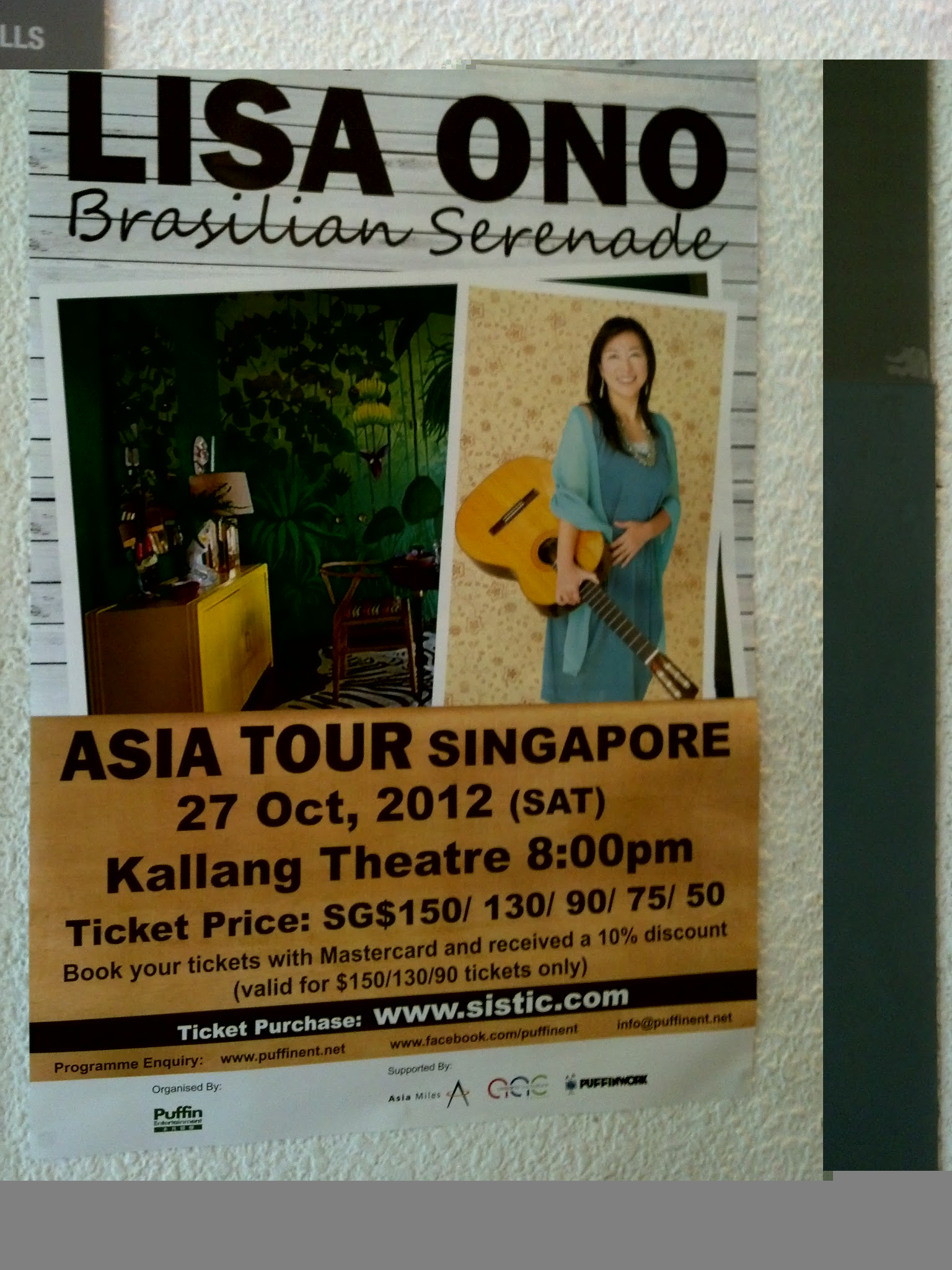 SG: Lisa Ono Asia Tour 2012 & more for October