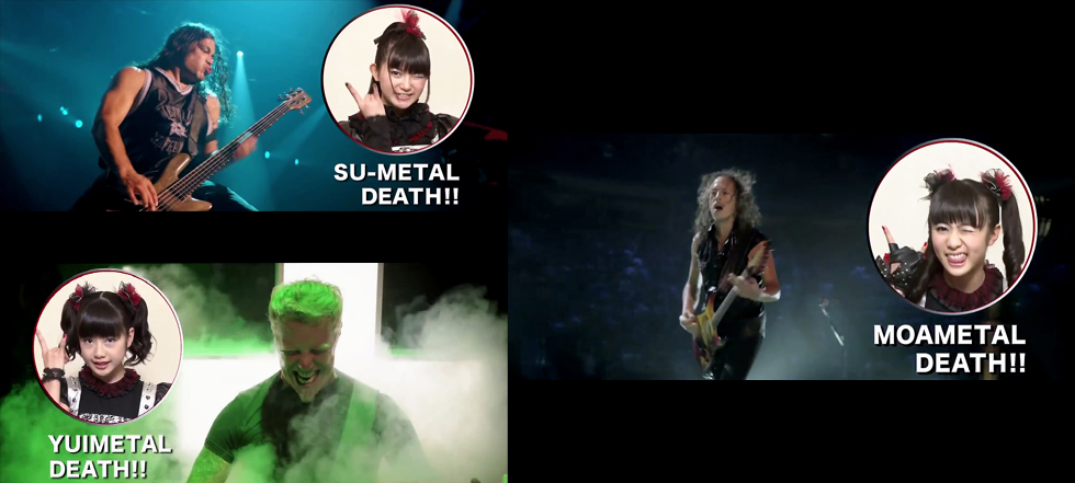 BABYMETAL promotes new Metallica film in Japan