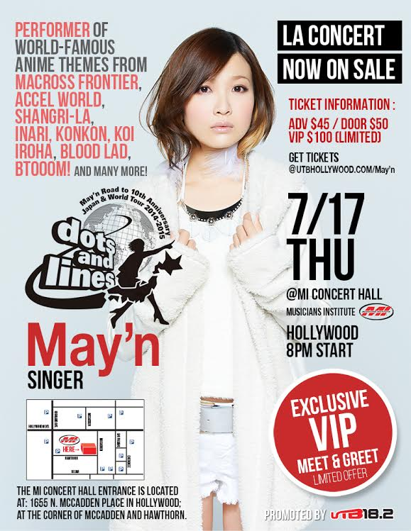 May'n returns to Los Angeles for special show at Musicians Institute