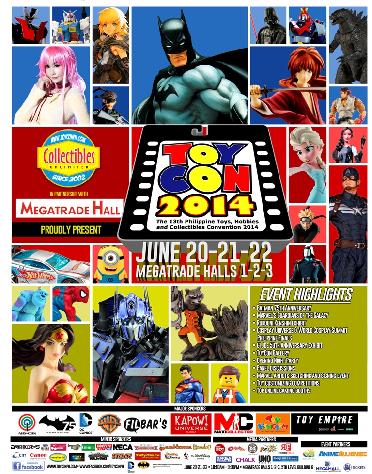 The Philippine TOYCON: The Biggest Pop Culture Event in the Philippines celebrates its 13th year