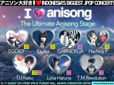 AFA ID 2014: AniSong Lineup