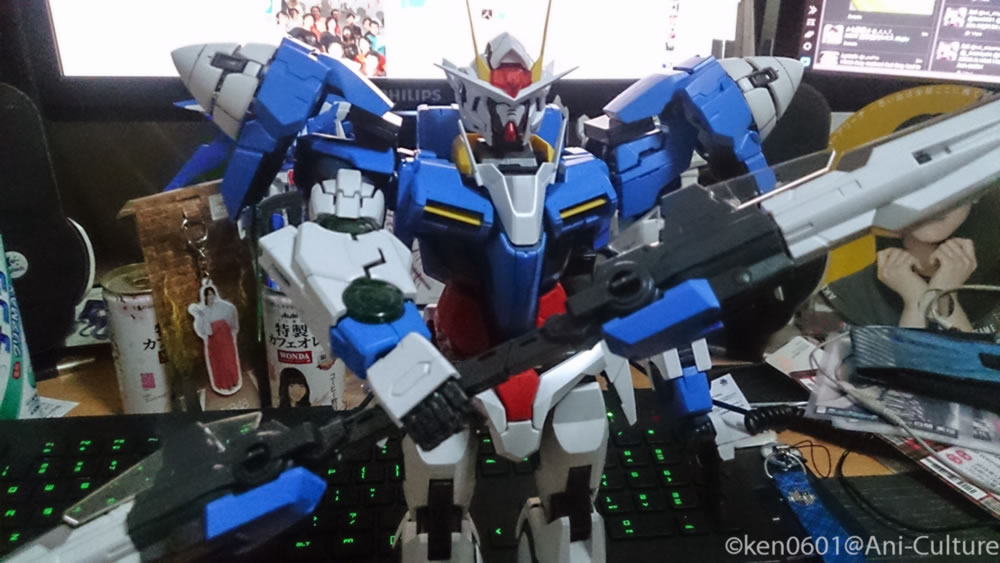 1/60 scale PG Gundam 00 Raiser build progress